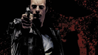 The Punisher illustrated by Tim Bradstreet and Modeled by actor Thomas Jane